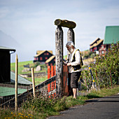 Residents of the village of Kirkjubøur on Streymoy, Faroe Islands