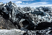 View into a glacier cave, Russels Glacier, Kangerlussuaq, Greenland