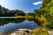 Autumn day at Taubensee near Reit im Winkl, Reit im Winkl, Chiemgau, Bavaria, Germany