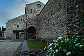 The patriarchal basilica and the baptistery of Aquileia in the Friuli Venezia Giulia region. The city was founded by the Romans in 181 BC. and is part of the Unesco heritage.