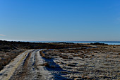 View of the shore landscape and the sea at Grimsholmen, Hallandslän, Sweden