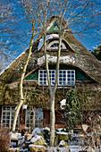 Wintry fairytale house, Dorum, Lower Saxony, Germany