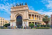 Politeama Theater, Palermo, Sizilien, Italien, Europa