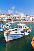 Mykonos Town old harbour, Mykonos, Cyclades Islands, Greek Islands, Greece, Europe