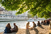 France, Paris, area listed as World Heritage by UNESCO, Ile de la Cite, at the Quai des Orfevres,