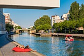 France, Seine Saint Denis, Pantin, the Ourcq Canal