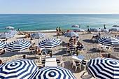 France, Alpes Maritimes, Nice, Promenade des Anglais, beach terrace Rhul