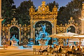 France, Meurthe et Moselle, Nancy, Place Stanislas or former Royal Place listed as World Heritage by UNESCO built by Stanislas Leszczynski king of Poland and last Duke of Lorraine in the 18th century, the fountain of Neptune