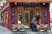 France, Paris, Le Pure Cafe rue Jean Mace