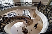France, Paris, the Petit Palais, built on the occasion of the Universal Exhibition of 1900 by architect Charles Girault, houses the Fine Arts Museum of the Paris, one of the two stairs