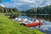 France, Haute Loire, La Chaise Dieu, the lake, Parc naturel r?gional Livradois-Forez, Livradois Forez Regional Natural Park