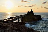 France, Pyrenees Atlantiques, Basque Country, Biarritz, the Rocher de la Vierge (Virgin rock)