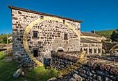 France, Ardeche, Mazan l'Abbaye, parc naturel regional des Monts d'Ardeche (Monts d'Ardeche Regional Natural Park), Un cercle et Mille fragments is a work of art by Felice Varini