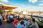 France, Paris, the Terrass Hotel, the panoramic terrace on the top floor
