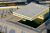 France, Bouches du Rhone, Marseille, 2nd district, Euromediterranee zone, Esplanade J4, The Mediterranean Villa, architect Stefano Boeri (aerial view)