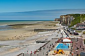 France, Normandy, Seine Maritime, Veules les Roses, The Most Beaul Villages of France, the beach