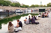 France, Paris, the Bastille, the port of Arsenal