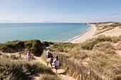 France, Pas de Calais, Cote d'Opale, Ambleteuse, dunes of the slack