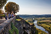 France, Dordogne, Perigord Noir, Dordogne Valley, Domme, labelled Most Beaul Villages in France, Domme, panorama on the Dordogne valley