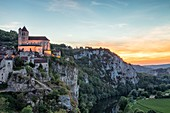 France, Lot, Saint Cirq Lapopie, labelled Les Plus Beaux Villages de France (The Most Beaul Villages of France)