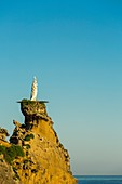 France, Pyrenees Atlantiques, Bask country, Biarritz, sunrise on the Rock of the Virgin