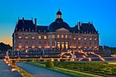 France, Seine et Marne, Maincy, castle of Vaux le Vicomte during the candelights evenings