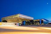 France, Bouches du Rhone, Marseille, Euromediterranee Zone, the MuCEM of R Ricciotti and R Carta architects and the Mediterranean Villa