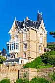France, Ille-et-Vilaine, Dinard, Pointe de la Malouine, Port Salut or C?zembre villa with a Belle Epoque architecture built in