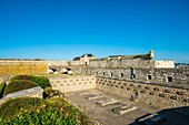France, Morbihan, Port-Louis, the citadel built in the 16th century by the Spaniards, Memorial of the Resistance shots