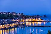 France, Ille-et-Vilaine, Emerald Coast, Cancale, view over the city and La Houle harbour