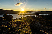 Sonnenaufgang am Tasersuaq in Westgrönland, Sisimiut, Grönland