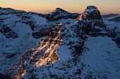 Sunrise at La Scíma do Picóll on the Via alta della Verzasca, Lepontine Alps, Ticino, Switzerland