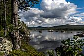 Blick über den See Fatjassjön, Boden, Norrbottens Län, Schweden
