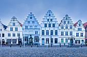 Historische Häuser in Friedrichstadt, Nord-Friesland, Schleswig-Holstein