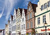 Historic houses in Friedrichstadt, North Friesland, Schleswig-Holstein