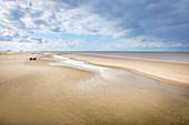 Wattlandschaft am Strand von St. Peter-Ording, Nord-Friesland, Schleswig-Holstein