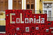 Colorful Escadaria Selaron staircase with tile art, Rio de Janeiro, Rio de Janeiro, Brazil, South America