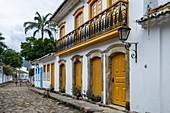 Street scene in the colonial city, Paraty, Rio de Janeiro, Brazil, South America