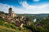 Saint-Cirq-Lapopie, Les Plus Beaux Villages de France, on the Lot, Lot Department, Midi-Pyrénées, France