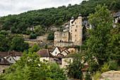 Château de Larroque-Toirac, on the Lot, near Figeac, Lot department, Occitanie, France