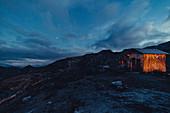 Twilight in the mountains in Raetikon, Vorarlberg, Austria, Europe