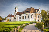Wieskirche near Steingaden, Upper Bavaria, Allgäu, Bavaria, Germany