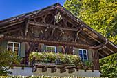 Historic farmhouse in Ettal, Upper Bavaria, Allgäu, Bavaria, Germany