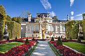 Park (west parterre) of Linderhof Palace, Ettal, Allgäu, Bavaria, Germany