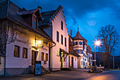 Historic Gasthaus Alpseestube near Hohenschwangau Castle in the evening, Schwangau, Allgäu, Bavaria, Germany