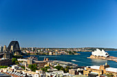 View of Harbor Bridge, Opera House and Harbor, Sydney, New South Wales, Australia