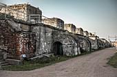 View of the ramparts of Fort Konstantin, Kronstadt Russia