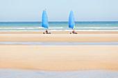 Kitebuggy on the beach - Omaha Beach, Calvados France