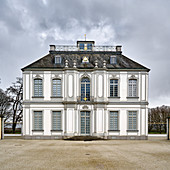 View of Falkenlust Castle, Bruehl, NRW, Germany