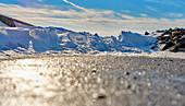 Snowdrift on the North Sea coast, Dorum, Lower Saxony, Germany
